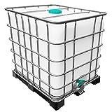 REKUBIK 1000l IBC Wassertank auf Kunststoffpalette Ungespült (Sirup Reste)