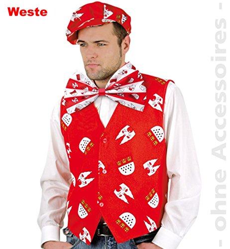 Karneval Kostüm Herren Köln - FRIES Herren Kostüm Köln (rot) (54)