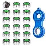 Perlatoren 18 Stück Strahlregler M24 Wasserhahn sieb Einsatz, Mischdüse mit ABS-Filter inkl+1 Perlator Schlüsse