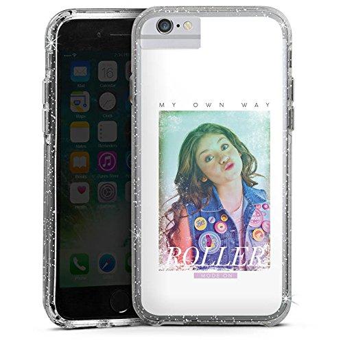 Apple iPhone 6s Plus Bumper Hülle Bumper Case Schutzhülle Soy Luna My own Way Disney Bumper Case Glitzer silber