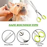 Unicorn Plus Dog Scissors - Professional Pet Scissors - Dog and Cat Face,Ear,Paw Hair Scissors - Rounded Tip Curved… 10