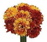 Live with Love Kunstblume Seidenblume Lovely Daisy Bouquet ideal für Hochzeit, Brautschmuck, Party, Zuhause Dekoration DIY Orange
