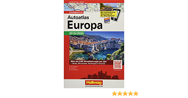 Autoatlas Navigator Europa 2019 2020 Strassenatlas 1 800 000 Incl Free Download Hallwag Atlanten Amazon De Hallwag Kummerly Frey Ag Bucher