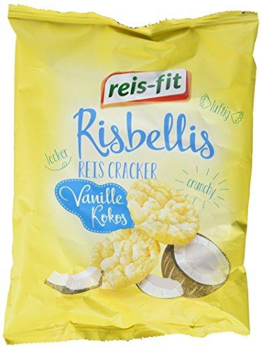 reis-fit Risbellis Reis Cracker Vanille & Kokos , 4er Pack (4 x 40 g)