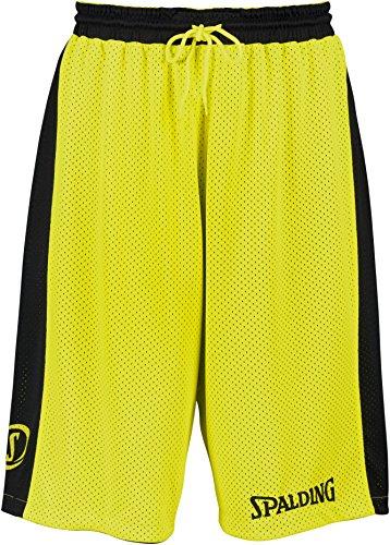Spalding Bekleidung Teamsport Essential Reversible Shorts Herren, schwarz/Neongelb, L
