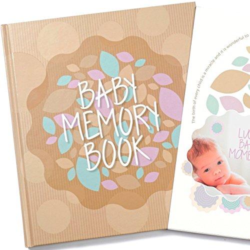 innerung an das erste Jahr des Babys– Fotoalbum / Sammelalbum / Tagebuch, für Jungen und Mädchen (in englischer Sprache)–weiße Seiten (Baby Boy Ankündigungen)