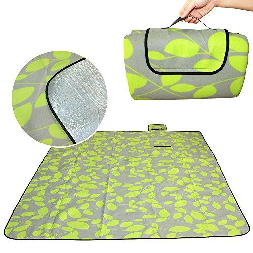 e, weiche Polyester Wasserdicht Fleece-Picknick-Decke, tragbare Aluminium mit Matte Box, für Camping, Outdoor, Grill und Reisen Strand ()