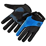 HCFKJ RAD UP Full Bike Finger Bildschirm Radfahren Fahrrad Handschuhe Anti-Rutsch-Atmungsaktiv (M, BLAU)