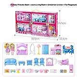 Set di Giocattoli per Ragazze Barbie House, tra Cui più Scene, più Set di mobili, casa dei Giocattoli per Bambini, Cucina, Regalo di Compleanno, Regalo di Natale,A