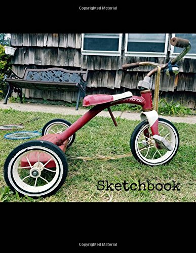 Sketchbook: 8.5 x 11 Large Sketch Book Journal, Vintage Radio Flyer Bike, Blank Notebook with Unlined Paper for Drawing, Writing, Sketching, ... 100 Durable Unruled Pages (New York Shots)