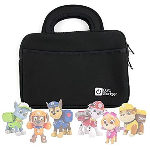 Handy 'Briefcase Style' Water Resistant Neoprene Case with Additional Storage Pocket and Sturdy Carry Handle for the Paw Patrol Toys / Action Pack / Rescue Racers - by