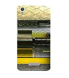 PrintVisa Modern Art Steel Design 3D Hard Polycarbonate Designer Back Case Cover for LAVA PIXEL V1