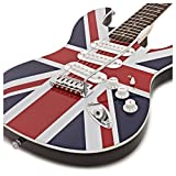 Guitare Ã?lectrique LA par Gear4music Union Jack