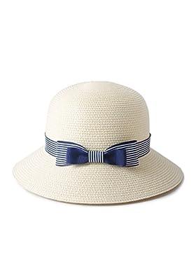 LVLIDAN Sombrero para el sol del verano Dama SolAnti-sol blanco Fishermanstrawhat