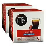 Nescafé Dolce Gusto Caffè Lungo Decaffeinato, Entkoffeiniert, Kaffee, Kaffeekapsel, 2er Pack, 2 x 16 Kapseln