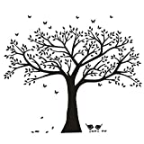 BDECOLL géant photo de famille Arbre mur Home Decor/Stickers mural grand Arbre/cerisier en fleur Blanc Sticker Mural pour chambre d'enfant/salon