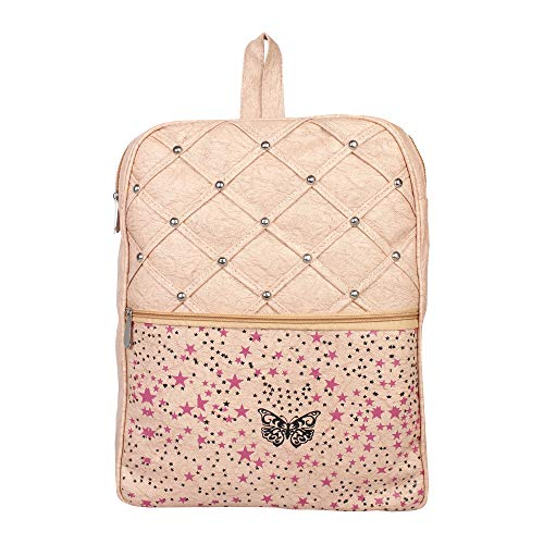 Aadhunik Libaas Stylish Printed Fashion PU Leather Backpack, College Backpack, Tution Backpack, Office Backpack for Girls and Women