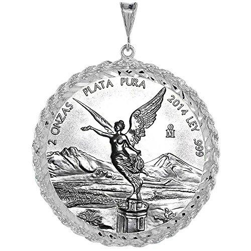 Revoni-Bracciale in argento Sterling, lunghezza 47 cm, con pendente a forma di moneta, lunetta con bordo a corda, monete non sono