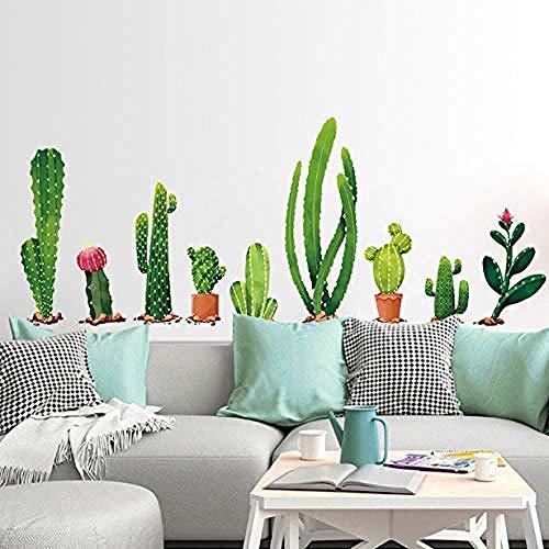 Wandaufkleber Hintergrund Abziehbild Große Grüne Blumenerde Vielzahl Von Kakteen Für Schlafzimmer Esszimmer Wohnzimmer Wohnkultur 150 * 60Cm