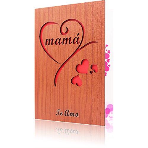 ¿Buscas un regalo para MAMÁ para el cumpleaños o el día de la madre? Esta preciosa tarjeta para el día de la madre de madera te ayudará. Ahora siempre es el mejor momento para decirle a mamá cuánto la queremos y darle las gracias por tantos años de a...