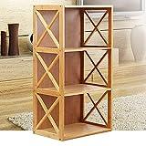 Bücherregal Bamboo Shelf Student Kombi-Rack Einfache Cross-Schrank-Aufbewahrungsschrank,M
