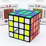 QiYi *WUQUE* - 4X4 Profesional & Competencia Cubo de Velocidad Magic Cube Rompecabezas 3D Puzzle - BLACK