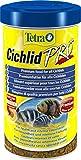 Tetra Cichlid Pro Premiumfutter (für Cichliden mit natürlichen Farbverstärkern, minimale Wasserbelastung, geeignet für Futterautomaten), 500 ml Dose