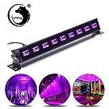 U`King UV LED Lichteffekt LED Bar Licht Schwarzlicht 9x3W LED Bühnenbeleuchtung für Weihnachten Party Bar Karneval und Halloween