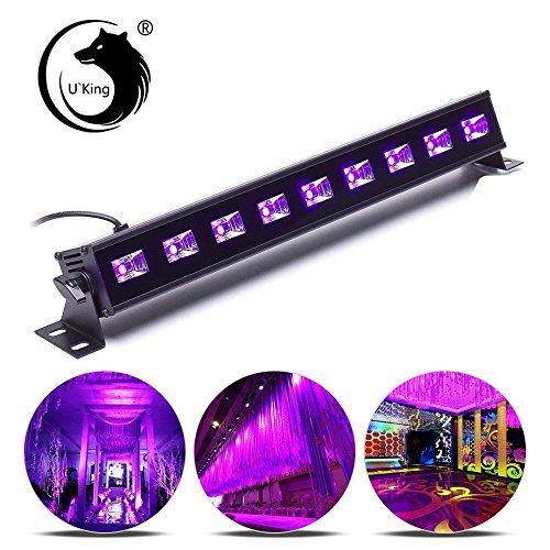 ffekt LED Bar Licht Schwarzlicht 9x3W LED Bühnenbeleuchtung für Weihnachten Party Bar Karneval und Halloween (Black Light Led Strobe Licht)