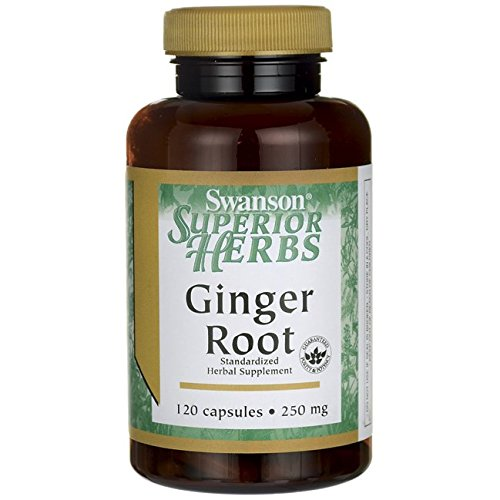 Swanson Ginger Root (Standardized) 250 mg 120 Caps by Swanson Superior Herbs (Superior Herbs Swanson)