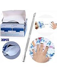 Perfect Summer Kit de Manucure Dont 20PCS Remover Pad Enlever Gel et Removal Tool Ôte pour Enlever Vernis Semi Permanent