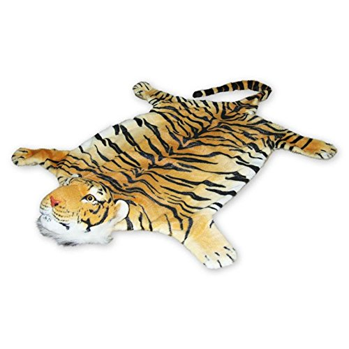 Tigerfell Teppich Bettvorleger Tiger Fell Braun