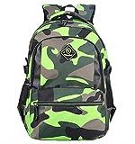 Die besten Grün-Geschenk für 15 Jahre alten Jungen - FLHT, Schultasche Rucksack Junge Mädchen Kinder Wasserdicht Leichte Bewertungen