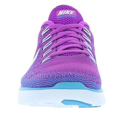 Nike Wmns Free RN Distance, Chaussures de Running Entrainement Femme Bleu - Azul (Hypr Vlt / Bl Tnt-Frc Prpl-Bl Lg)