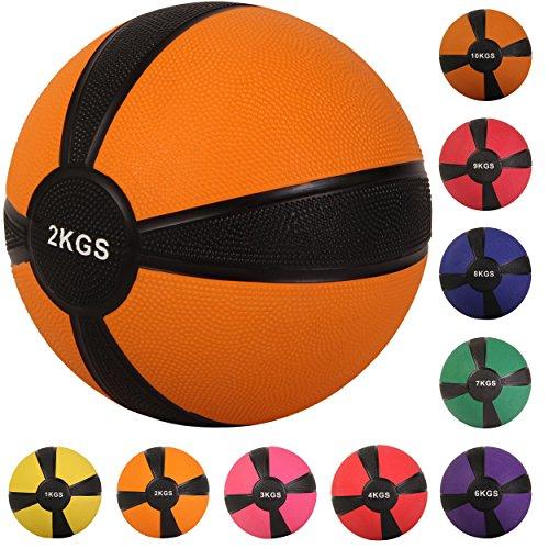Palla medica 1 - 10 kg - (2 kg / Arancione)