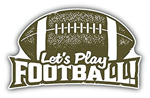 Let's Play Football Rugby Ball Hochwertigen Auto-Autoaufkleber 12 x 8 cm