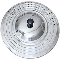 UPIT Universal Frying Pan Lid Fits 24cm, 26cm, 28cm and 30cm Diameter Pots and Pans