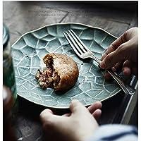 YYF Personalidad europea horno esmalte vajilla de cerámica ensalada de frutas plato de postre plato de