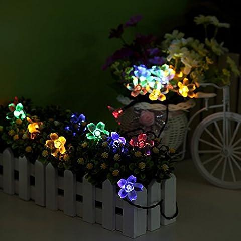 Esamconn®Solar Fleur Fleur Feux Outdoor Fée 7M 50LEDs Blossom pour Jardin, Patio, Chemin, Eclairage de Noël, Intérieur, Party & More