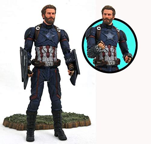 Avengers Infinity War Marvel Select Action Figure Captain America 18 cm Diamond