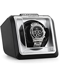Klarstein 8PT1S caja para relojes (compacto, motor silencioso, amplia tapa transparente, 2 programas de rotación) - negro