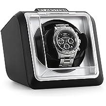 Klarstein 8PT1S • Estuche bobinadora para relojes • Caja para relojes • Capacidad: 1 reloj automático • Giro en dos direcciones • Intérvalos de giro programables • Vitrina • Negro
