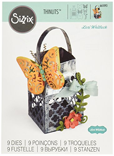 Sizzix, Butterfly Lantern, Decorazioni Ornamentali, 9 Pezzi