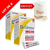 D-Stress Booster (+1 vitamine D3 offerte)  Magnésium hautement assimilé, taurine, vitamines B  Origine France  Lot de 2 + 1 vitamine D3 offerte