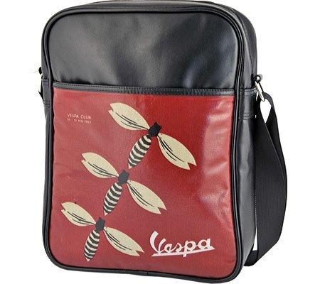 Preisvergleich Produktbild VESPA Retro Tasche Flightbag VESPA CLUB Schwarz Hochformat