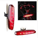 zantec Fahrrad 5LEDs Rücklicht Fahrrad lange Schwanz Licht rotes Warnlicht Blinklicht Lampe MTB Equipment