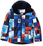 Quiksilver Jüngen Printed Youth JK Mission-Snow Jacket 8-16, Mandarin Red, 12/L