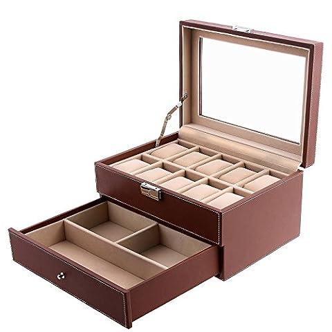 Songmics Watch Storage Box Jewellery Organiser Case JWB007