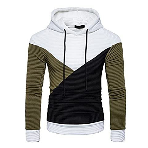 Zhhlaixing Mens Pour des hommes Boys Autumn Outdoor Running Contrast Hoodie sweat à capuche Hooded Jumper Coat Jacket Outwear Thanksgiving Christmas Gifts