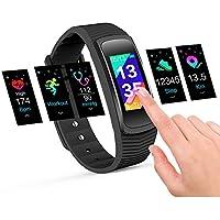 icefox Trackers, Smart Fitness Reloj de Pulsera, Resistente al Agua, Girls, Schwarz-0, 1